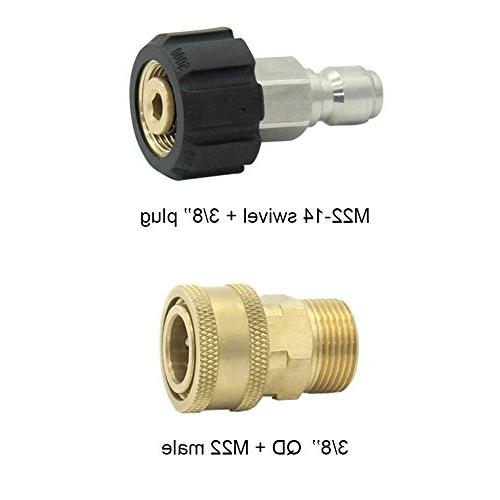 Twinkle Star Pressure Adapter Set Connect Kit, M22 14mm, TWIS291