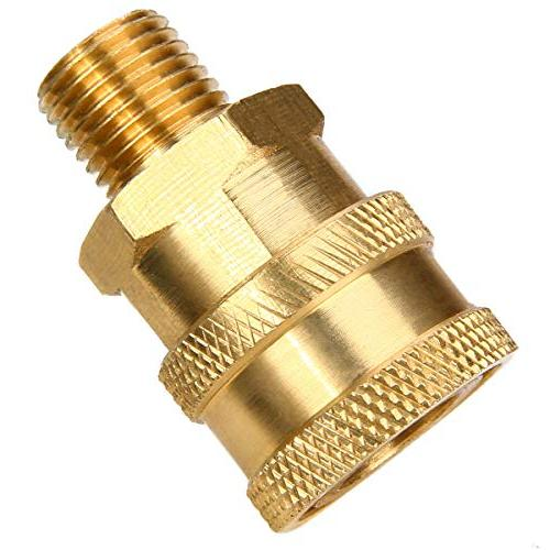 """1pc Washer Quick Connect Coupler 1/4"""" Mayitr Heavy Duty Brass Quick Couplers"""