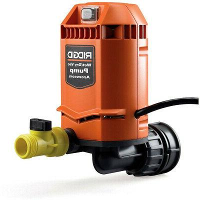 Quick Connect Pump Accessory for RIDGID Wet Dry Vacs Water R