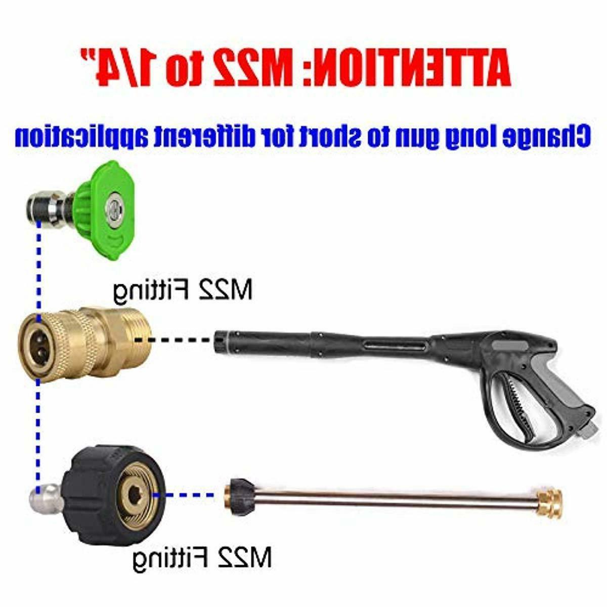 Sooprinse Pressure Washer Set 5000 PSI M22 Swivel