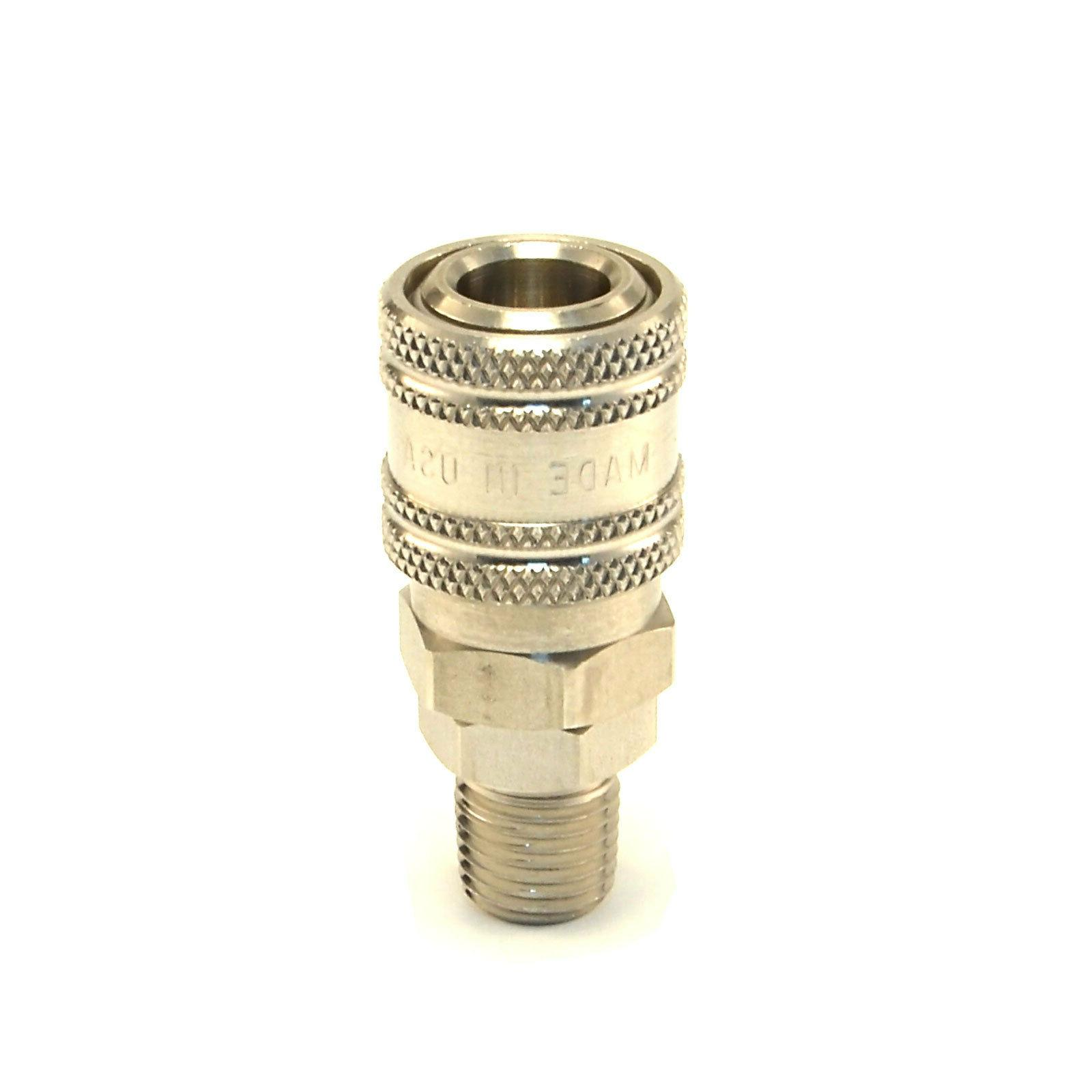 "STAINLESS STEEL Quick Connect Coupler 1/4"" Male NPT Air Hose"