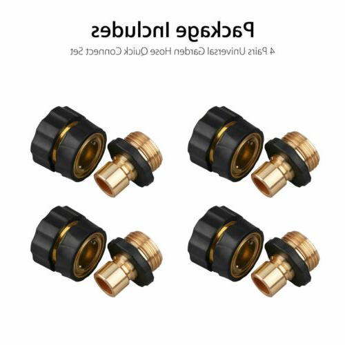 4 Quick Connect Brass Hose Tap Adapter Universal