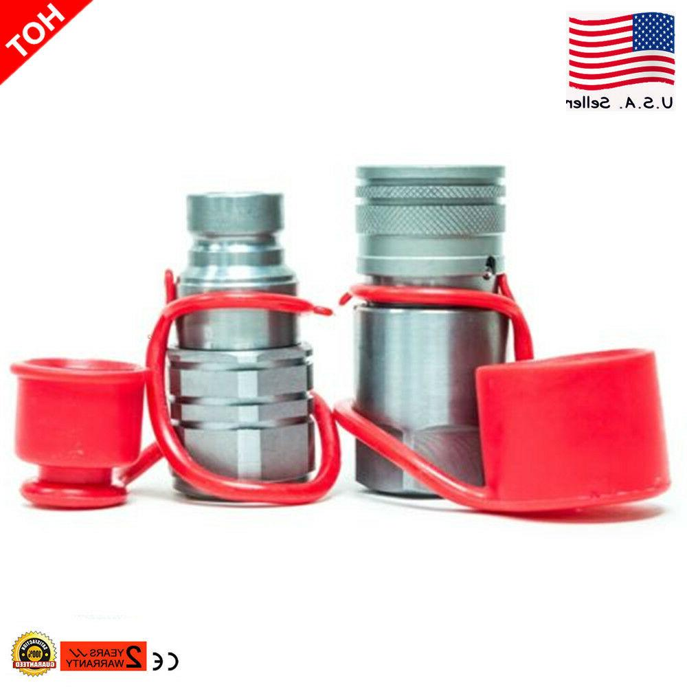 """US Set 3/4"""" Hydraulic Quick Connect Coupler Coupling"""
