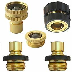 """PLG Lead-Free Quick Release Hose Connector Set Garden """" Outd"""