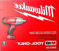 "Milwaukee 18 Volt 18V M18 Lithium Ion 1/2"" High Torque Impac"
