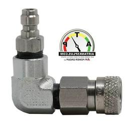 Male Quick-connect to Female Foster Fitting 90-degree Adapte