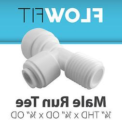 """Male Run Tee 1/4"""" Quick Connection Fitting Parts for Water F"""