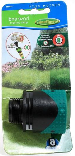 Green Thumb Medium Duty Hose End Quick Connect 163268 Faucet