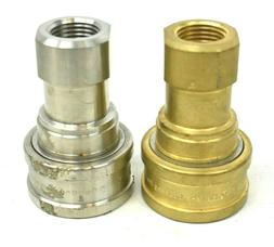 """Hansen ML8-HKP Coupling Quick Connect 1/"""" Female Coupler Stainless Steel USA Made"""