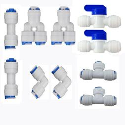 """Neeshow 1/4"""" OD Quick Connect Push In to Water Tube Fitting"""