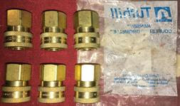 New Eaton Hansen 3S21, Brass Quick Connect Straight Coupler