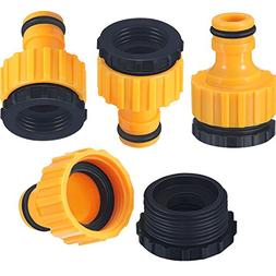 Hestya 4 Pack Plastic Garden Hose Tap Connector, 1/2 Inch an