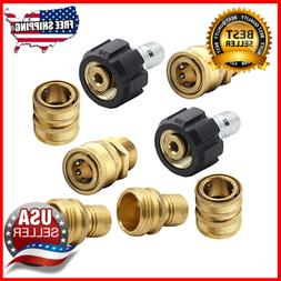 Pressure Washer Adapter Set Quick Disconnect Kit M22 Swivel