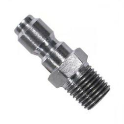 "Pressure Washer Hose Quick Coupler Plug 3/8"" MPT Stainless S"