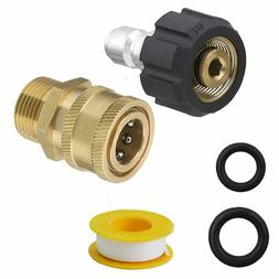 Pressure Washer Quick Connect Adapter Set Kit 5000 PSI M22 1