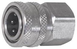 Quick Connect Coupler,Female,1/4x1/4 In ZORO SELECT 17-0036