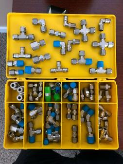 Swagelok Quick Connect Tube Fittings Large Lot