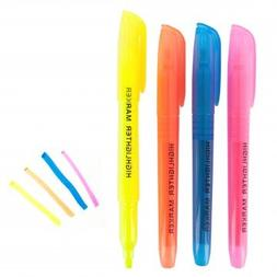 Quick-Drying Chisel Tip Highlighters Set by A&D Office Aids