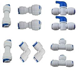 Reverse Osmosis Systems Quick Connect fittings Tube pipe Fit