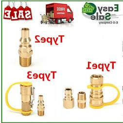 Solid Brass 3/8-Inch NPT Gas Quick Connect Fittings Propane