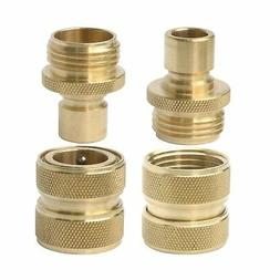 PLG Solid Brass Garden Hose Quick Connect Fittings,2 Female