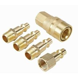 Central Pneumatic 5 Piece Solid Brass Industrial Quick Coupl