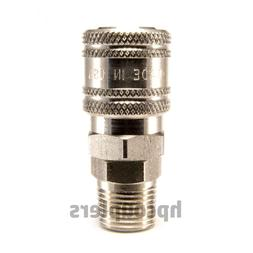 "STAINLESS STEEL 1/4"" Quick Connect Coupler 3/8"" Male NPT Air"