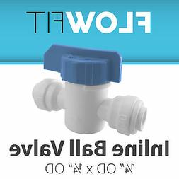 """Express Water 1/4"""" Straight Inline Ball Valve Quick Connect"""