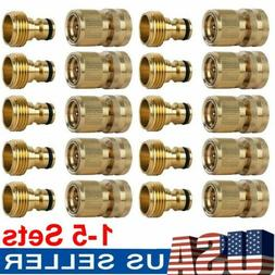 US 3/4' Garden Hose Quick Connect Water Hose Fit Brass Femal