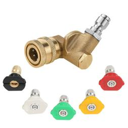 Washer Spray Nozzle Tip Quick Connect Pivot Adapter Coupler
